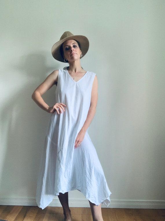 LINEN dress | white