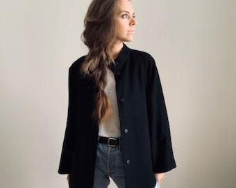 VINTAGE Rodier cashmere wool blend coat