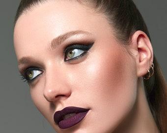 Muah Cosmetics Liquid Velvet Matte Lipstick | Lil Momma | Wine Shade | 6 g. | 0.21 us oz.