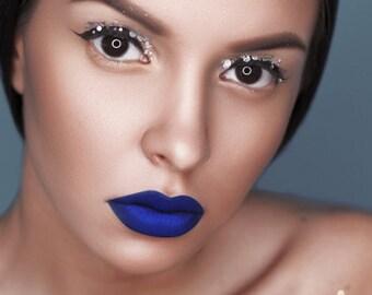 Muah Cosmetics Ultimate Fan Gift Set | Matte Lipstick | 2 Crystal Glitters  | 3 PC. Gift Set