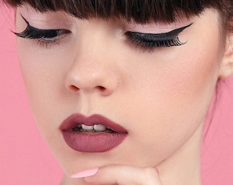 Muah Cosmetics Matte Lipstick   Sachet   Rose Pink Shade    4 g.   0.14 us oz.