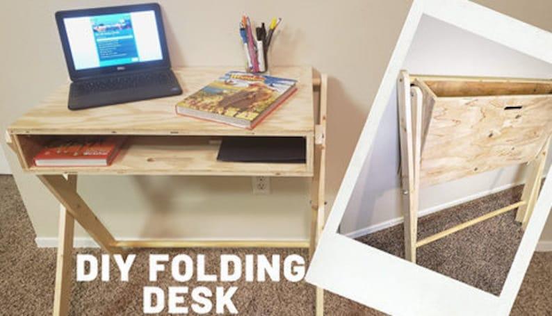 DIY Folding Desk Printable Pdf Plans image 0