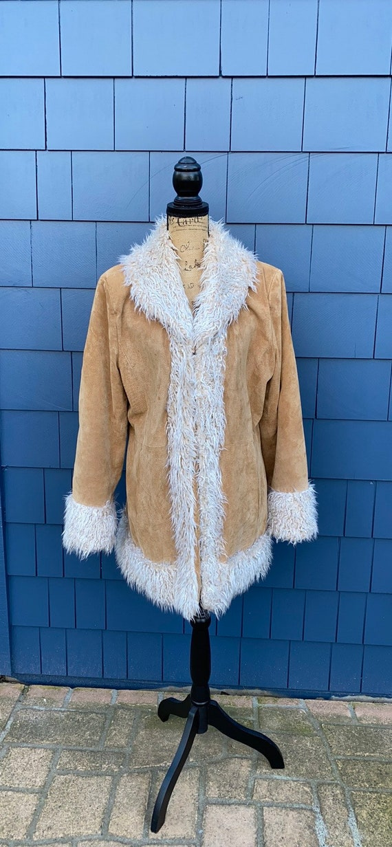 Giacca Penny Lane Coat XL tan jacket fur trim