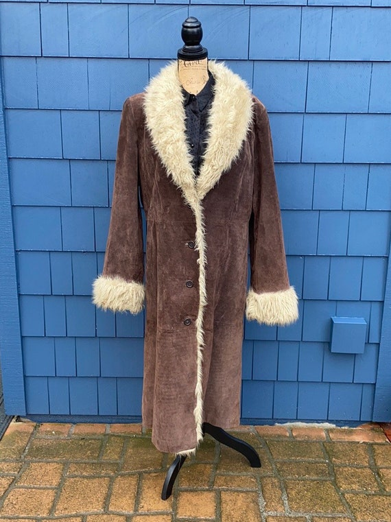 Wilson's leather maxima coat suede penny lane XL