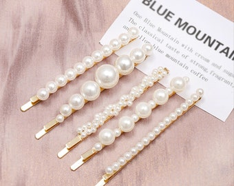 Hair Clip Acetate hair clip Pearl Hair Clip Hair accessories Pin Clip Hair pin Pearl hair pin-89 Barrette Pearl clip Hair jewelry
