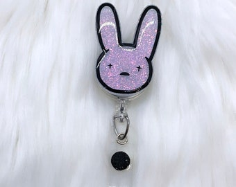 Nurse Badge Reel Retractable ID Badge Holder Easter Badge Reel Spring Badge Reel Bunny Badge Pull Peep Bunny Badge Reel