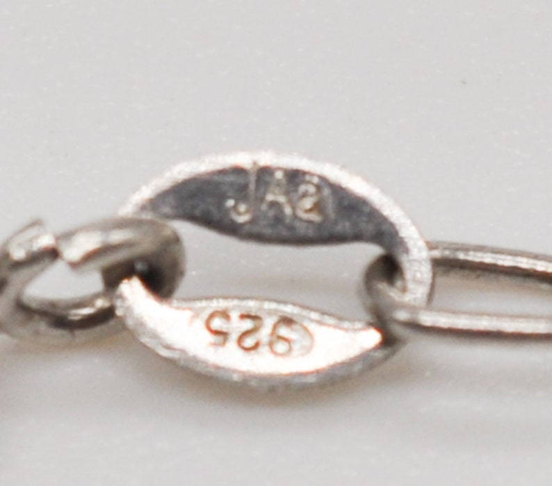 JENS AAGAARD Vintage Danish 925 Sterling Silver Chain with Pendant.