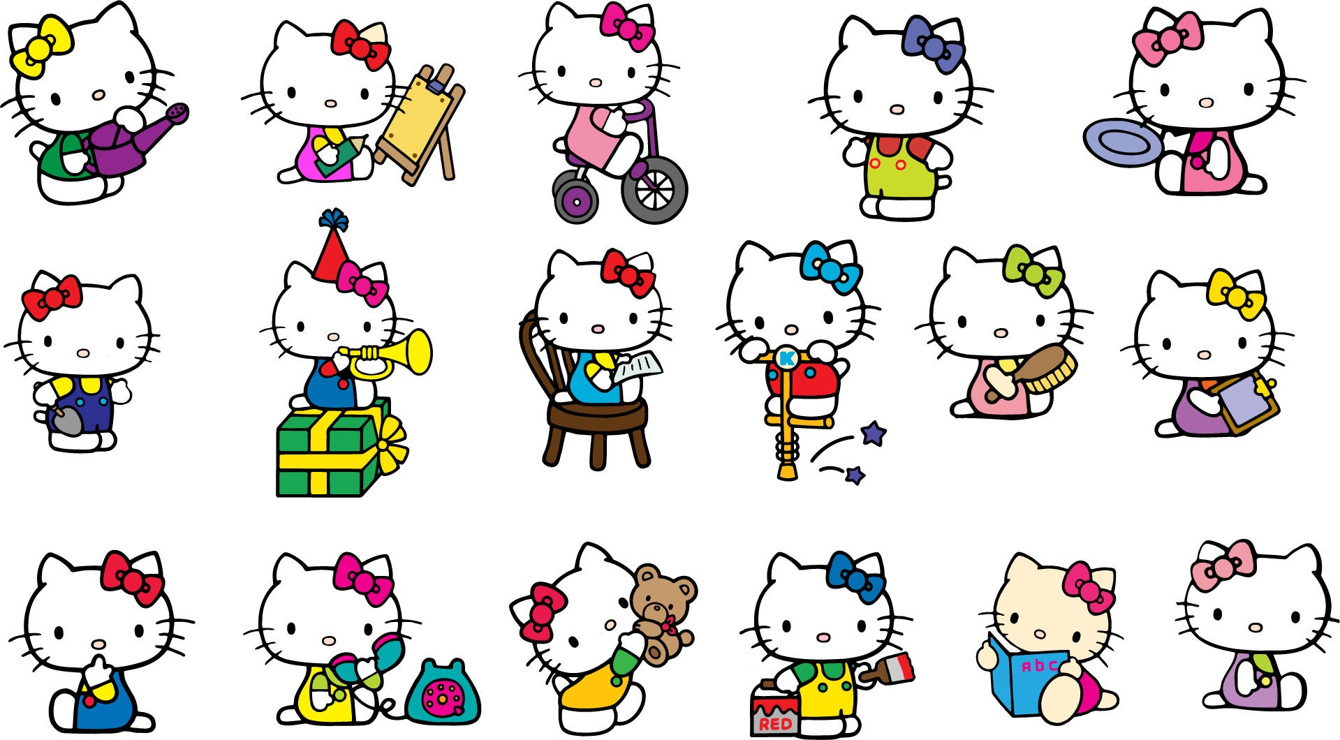Hello Kitty Clipart - Hello Kitty Png Transparent Png (#11688) - PinClipart