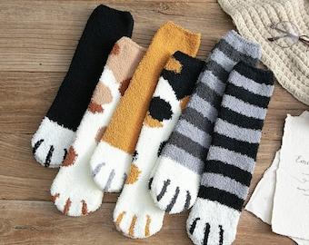 ladies socks Christmas Gift Size 4-8 Winter slipper socks COZY Toes unisex man