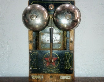 Vintage Electric Doorbell, Steampunk Style, Vintage Antique Electric Doorbell