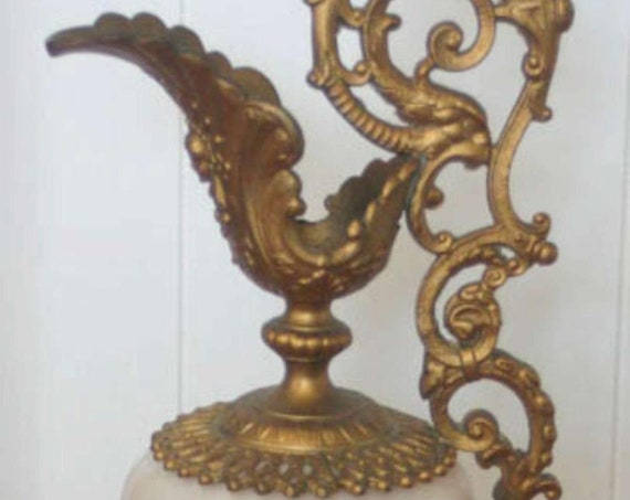 Antique Bronze French / Italian Style Pitcher with Handle Everlasting Design