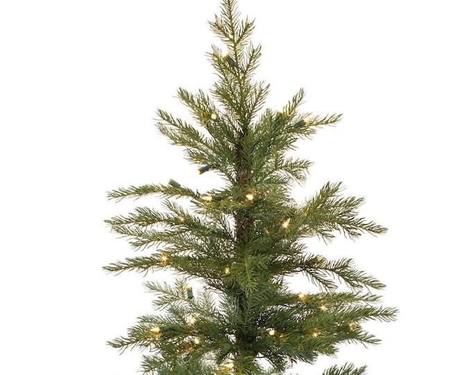 Melrose International - Christmas Tree In Burlap W/50 Lights 4' PVC(Ul Plug Included)