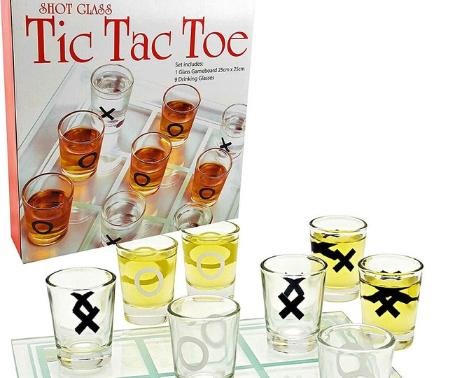 Tic Tac Toe - Adults Shot Glass Game Going Fast!