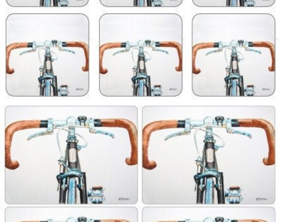 Bicycle Placemats Coaster Placemats Set By Pimpernel