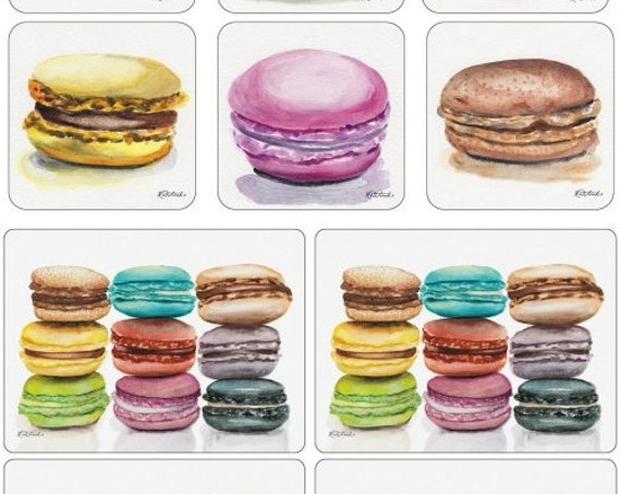 Pimpernel Macarons 4 Placemats And 6 Coaster Set - Easter Colors!