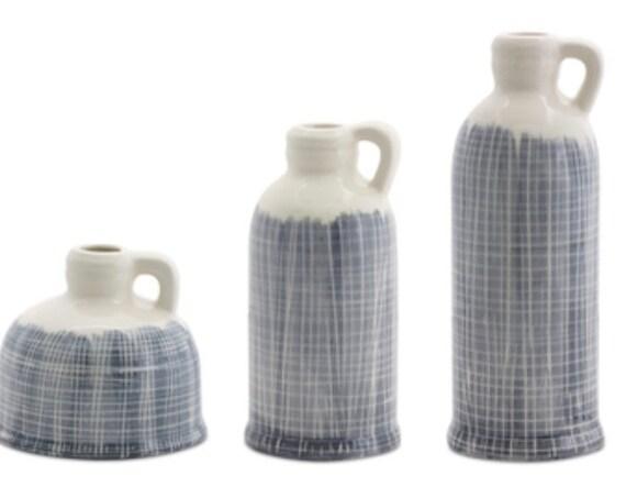 "Melrose Unique Jugs (Set Of 3) 5""H, 8.5""H, 10.25""H Terra Cotta"
