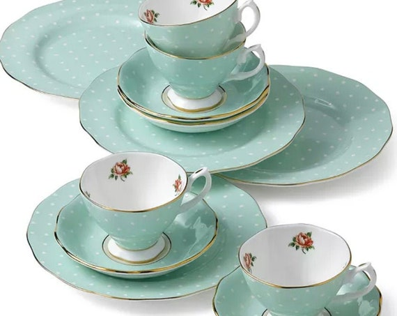 Royal Albert Polka Rose 12-piece set