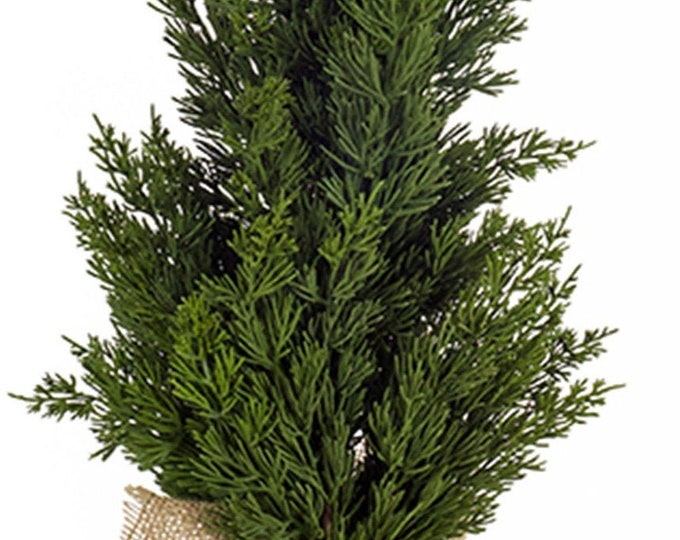 "Melrose International - Mini Pine Tree In Burlap 26.5""H Plastic"