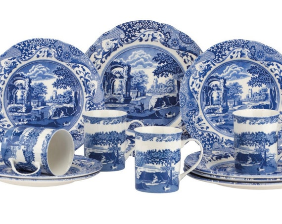 Spode English Blue Italian 12 Piece Set (New for 2021)