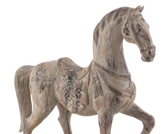 "Rustic Proud Horse 15 1/4"" High Statue Kensington Hill"