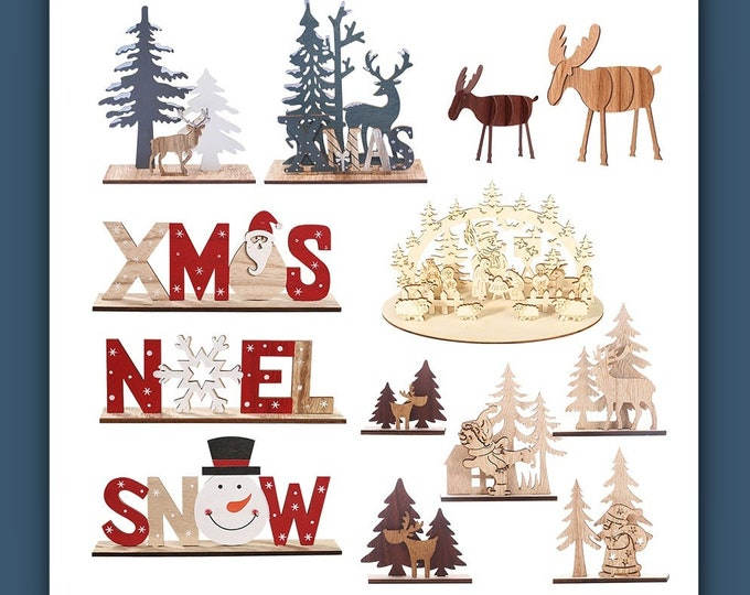 2020 Holidays DIY Wooden Ornaments Fun For Children's Craft