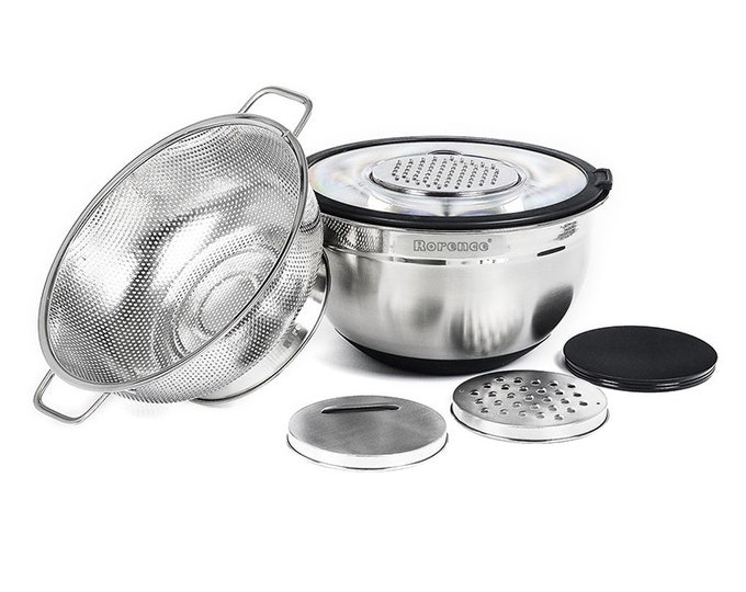 Stainless Steel Mixing Bowl Set With Non Slip Bottom