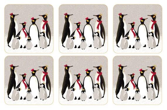 Sara Miller London Penguin Coasters Set of 6