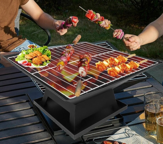BBQ Garden Patio Steel Charcoal Weather Resistant Fire Pit