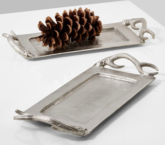 Artistic Antler Nickle Antler Tray 18 3/4in