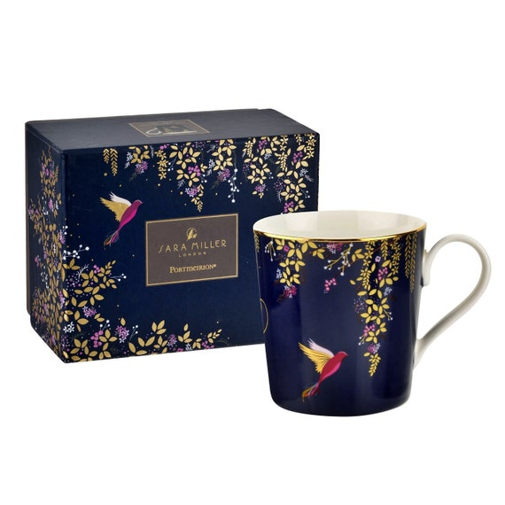 Sara Miller London for Portmeirion Chelsea Collection Mug - Navy 12 oz
