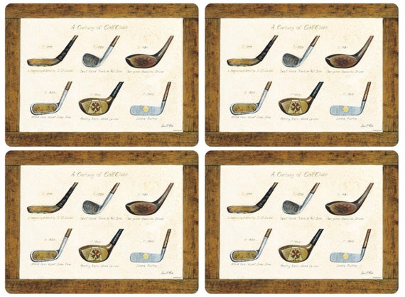 Coaster Placemat Set Of History Of Golf By Pimpernel