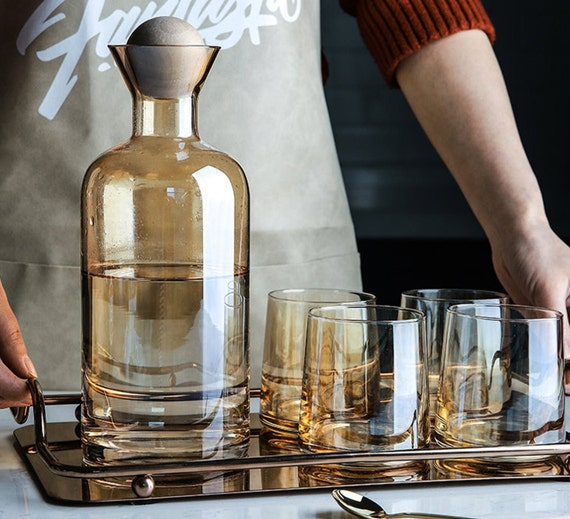 Amber High Borosilicate Nordic Style Carafe Set - Available March 15 2021
