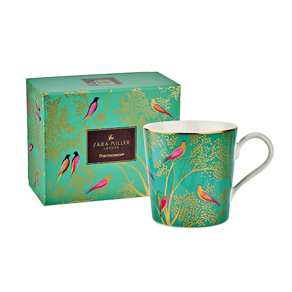 Sara Miller London for Portmeirion Chelsea Collection Mug - Green 12 oz