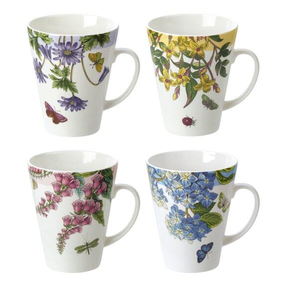 Portmeirion Botanic Garden Terrace Set of 4 Assorted Mug Gift Set