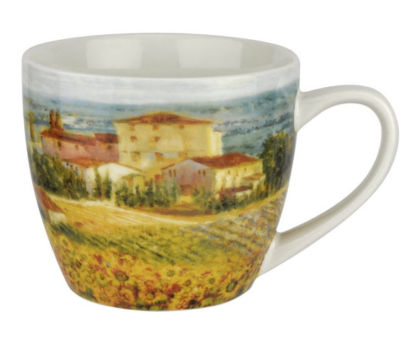 Collectable Tuscany Design 16 oz 2 Mug Set Pimpernel