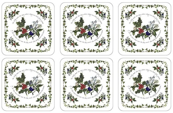 Pimpernel Holly & The Ivy Collection Coasters - Set of 6