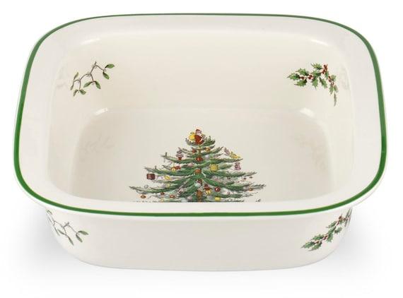 "Spode Christmas Tree 10"" Inch Square Baker Dish"