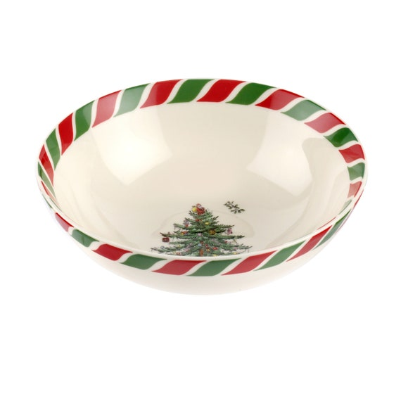 Spode Christmas Tree 6 Inch Candy Cane Bowl