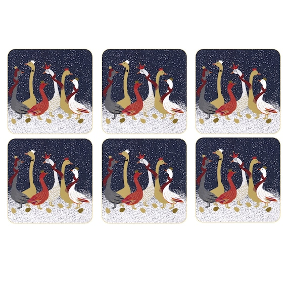 Pimpernel Sara Miller London gaggle of geese Tray Table Mats-Coasters  Great Price!