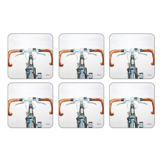 Portmeirion Pimpernel Bicycle Coasters Set of 6 - Gift Ware