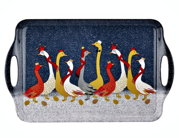 Pimpernel Sara Miller London Gaggle Of Geese Large Tray  Great Price!