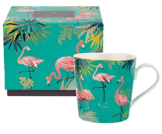 Sara Miller London for Portmeirion Chelsea Flamingo Mug - Green 12 oz