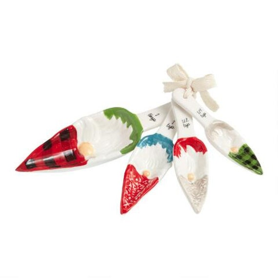 Holiday Scones Ceramic Nesting Cups And Spoon Sets - Great Gift