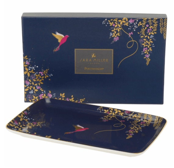 Sara Miller Chelsea Collection Trinket Tray - Navy