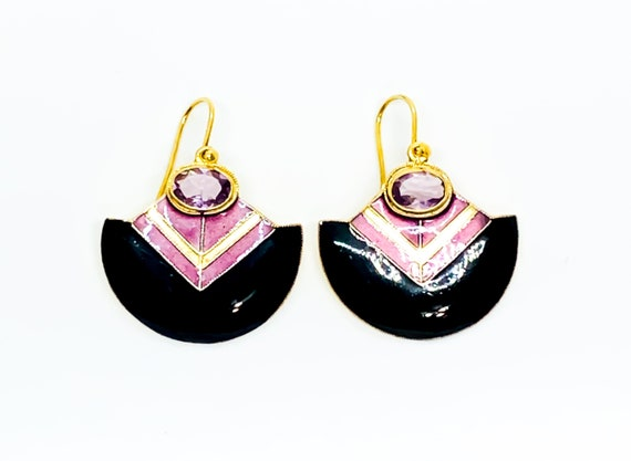 Amethyst Deco Earrings
