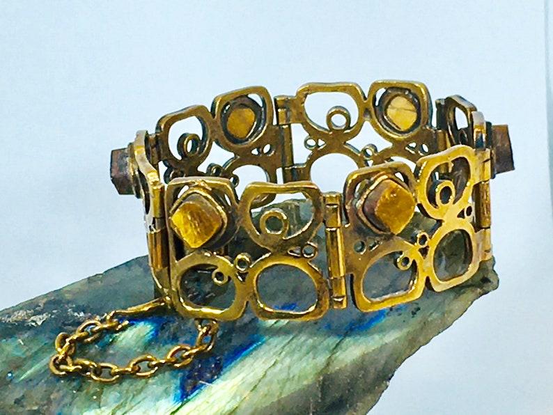 Vintage Bronze Bracelet Pentti Sarpaneva Turun Hopea Finland 1970\u2019s