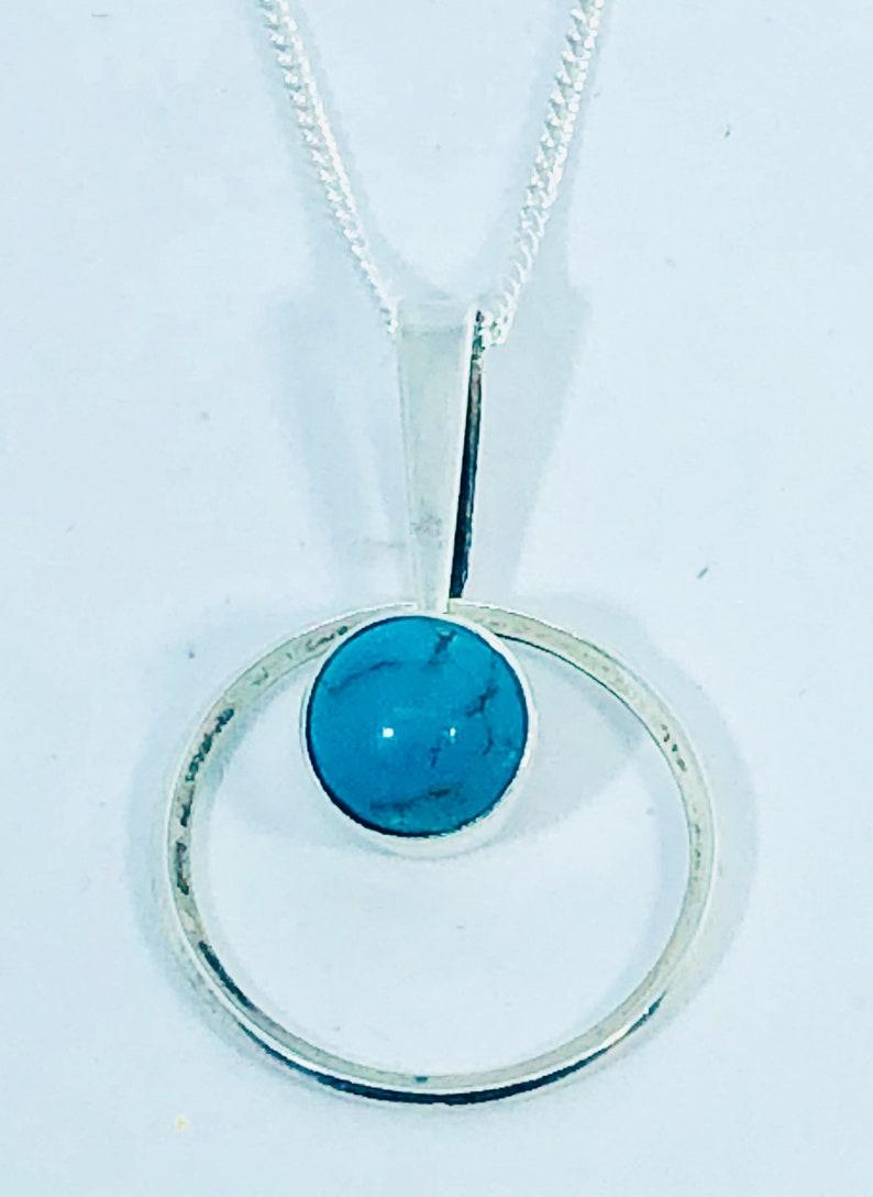 Kultasepp\u00e4 Salovaara Vintage Silver Pendant Necklace Finland