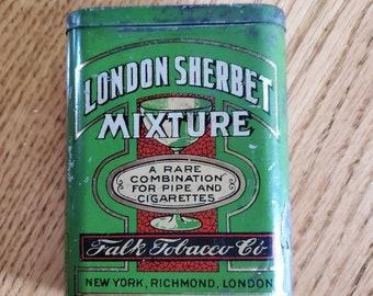 Vintage London Sherbet Tobacco Tin