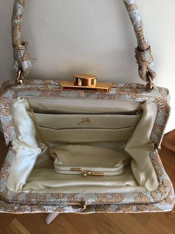 Elegant Koret Evening Bag Gold/Silver Colors - image 4