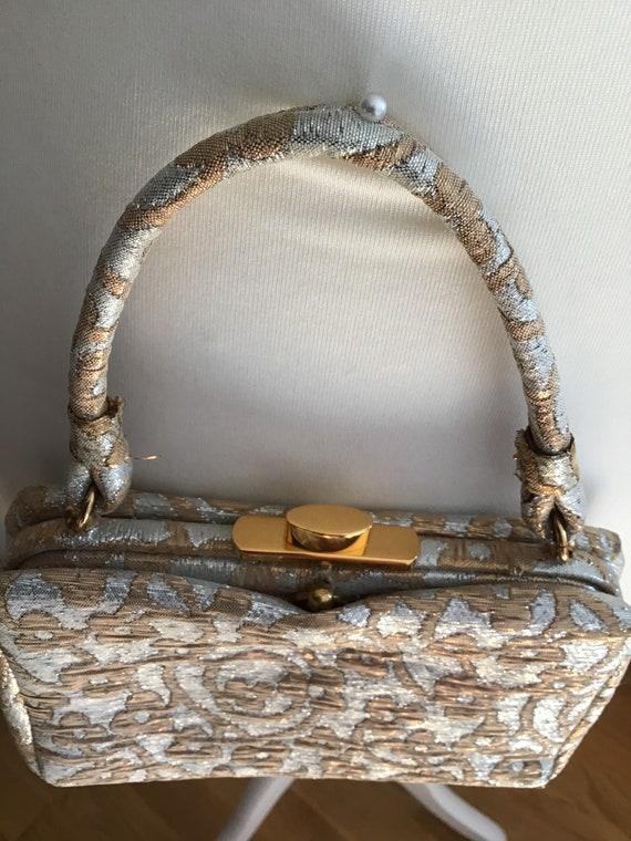 Elegant Koret Evening Bag Gold/Silver Colors - image 6